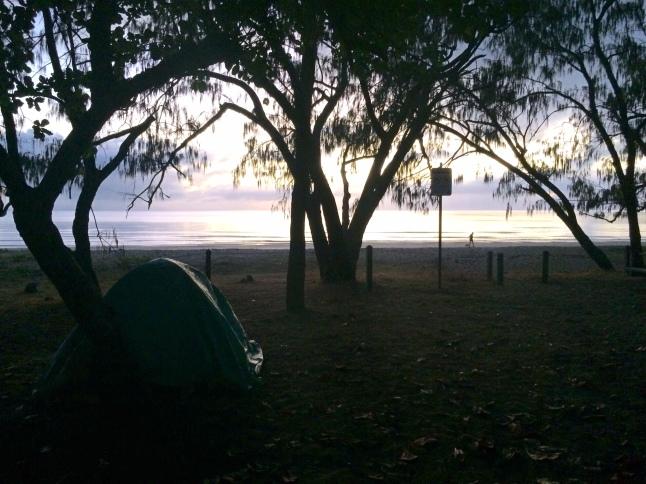Vista dalla tenda